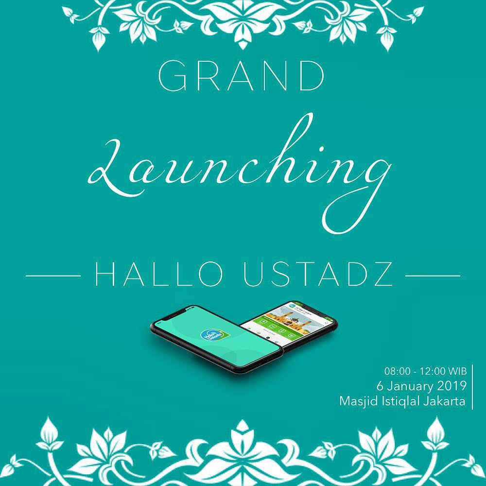 grand launching aplikasi halo ustadz