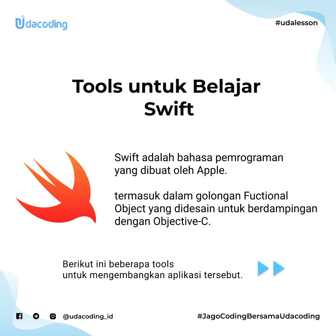Tools untuk belajar swift