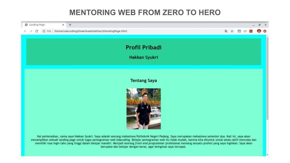 10 Portofolio Peserta Mentoring Web hingga Pekan ke – 3