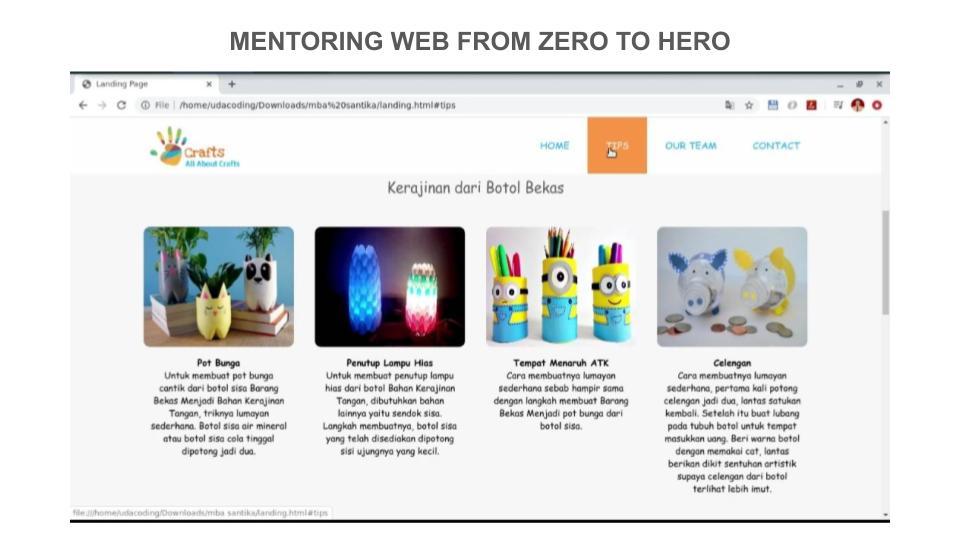 2 Portofolio Peserta Mentoring Web hingga Pekan ke – 3