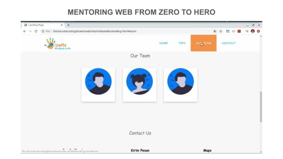 3 Portofolio Peserta Mentoring Web hingga Pekan ke – 3