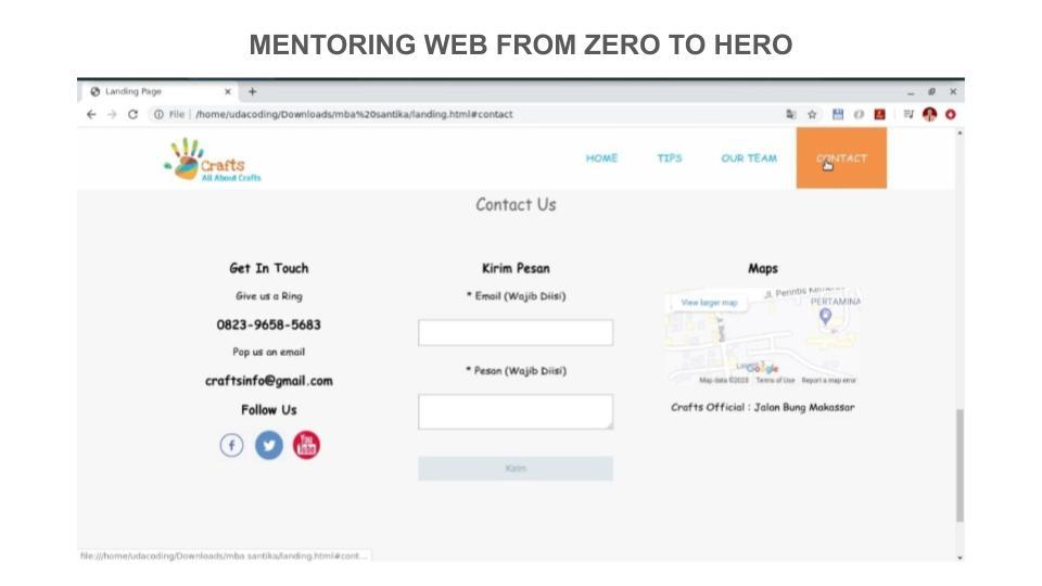 4 Portofolio Peserta Mentoring Web hingga Pekan ke – 3