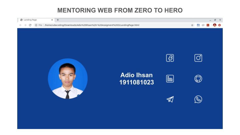5 Portofolio Peserta Mentoring Web hingga Pekan ke – 3