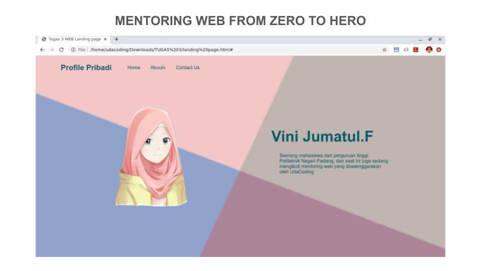 8 Portofolio Peserta Mentoring Web hingga Pekan ke – 3