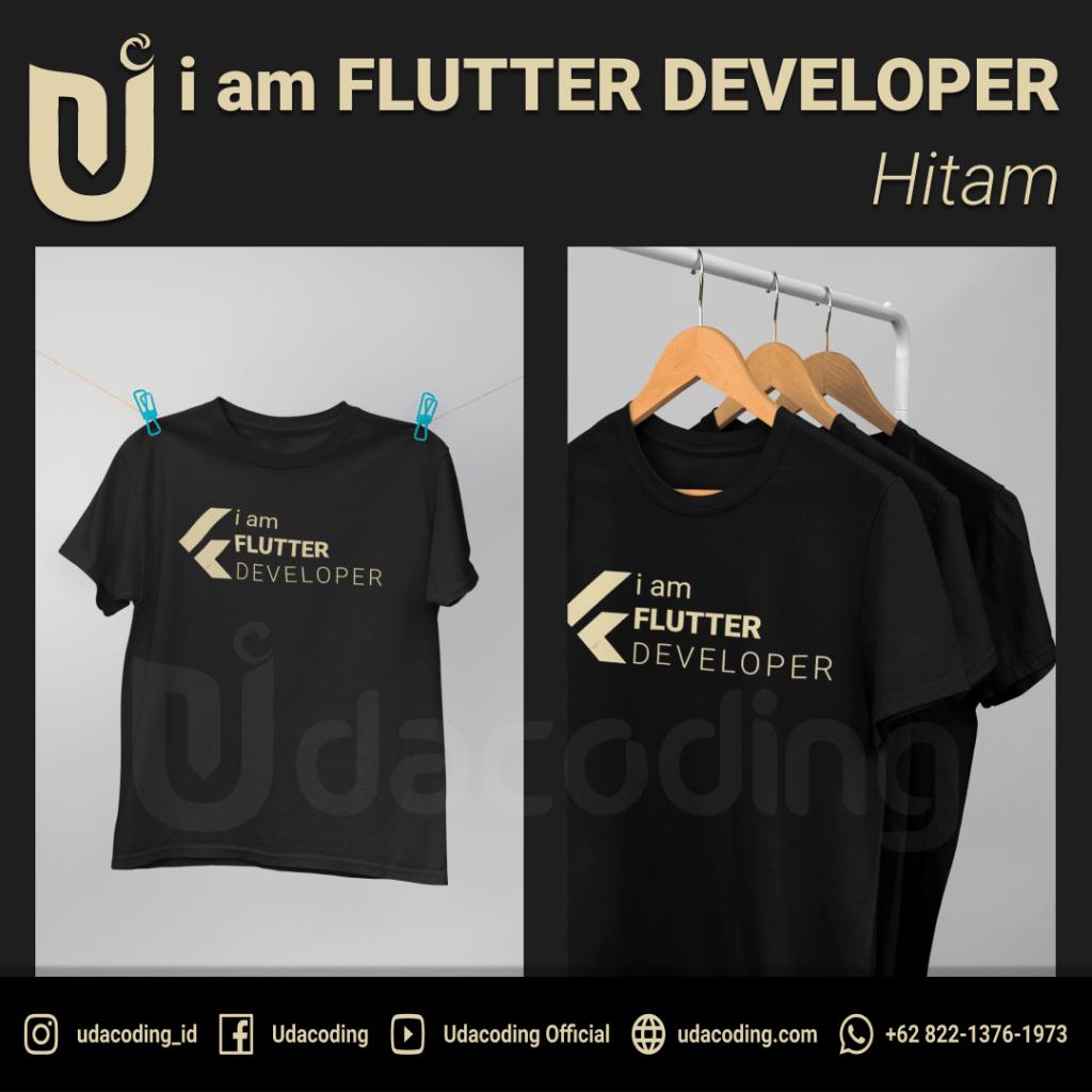 FLUTTER-DEVELOPER-HITAM-3-min-1024x1024 Pre Order T-Shirt Udacoding Store