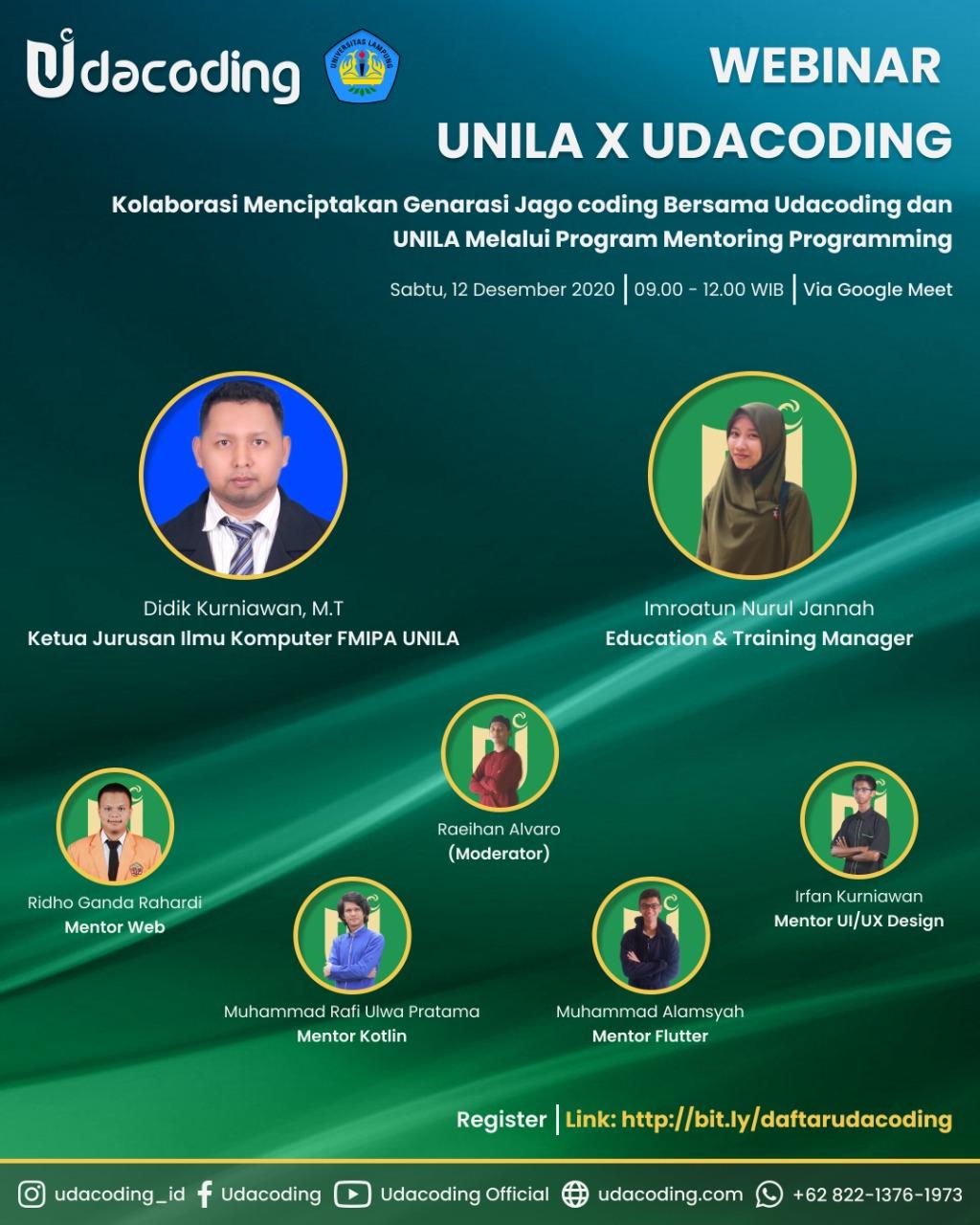Webinar Udacoding x UNILA