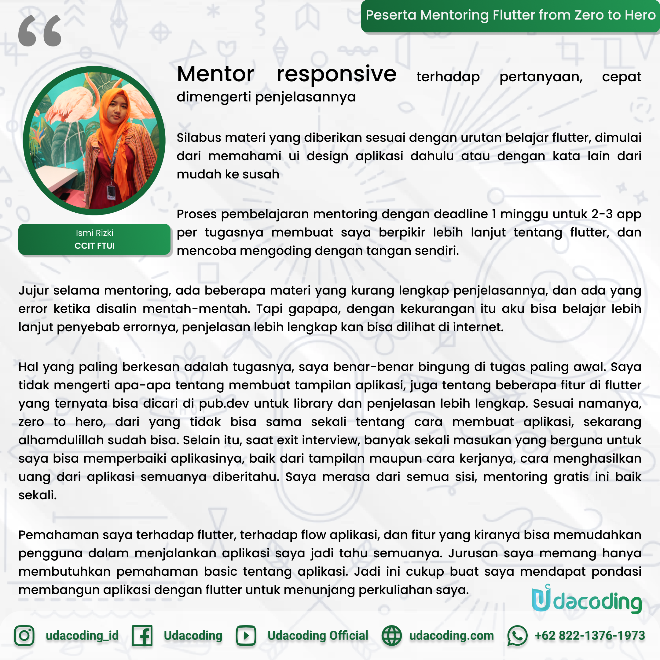 Udacoding Mentoring