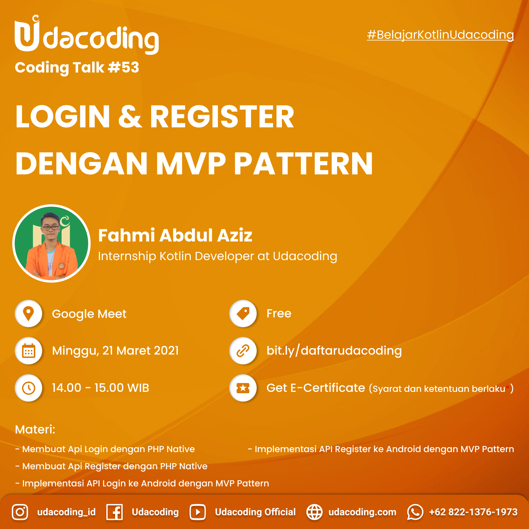 Login & Register dengan MPV Pattern