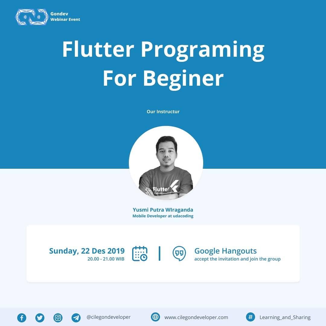 Webinar Flutter untuk pemula
