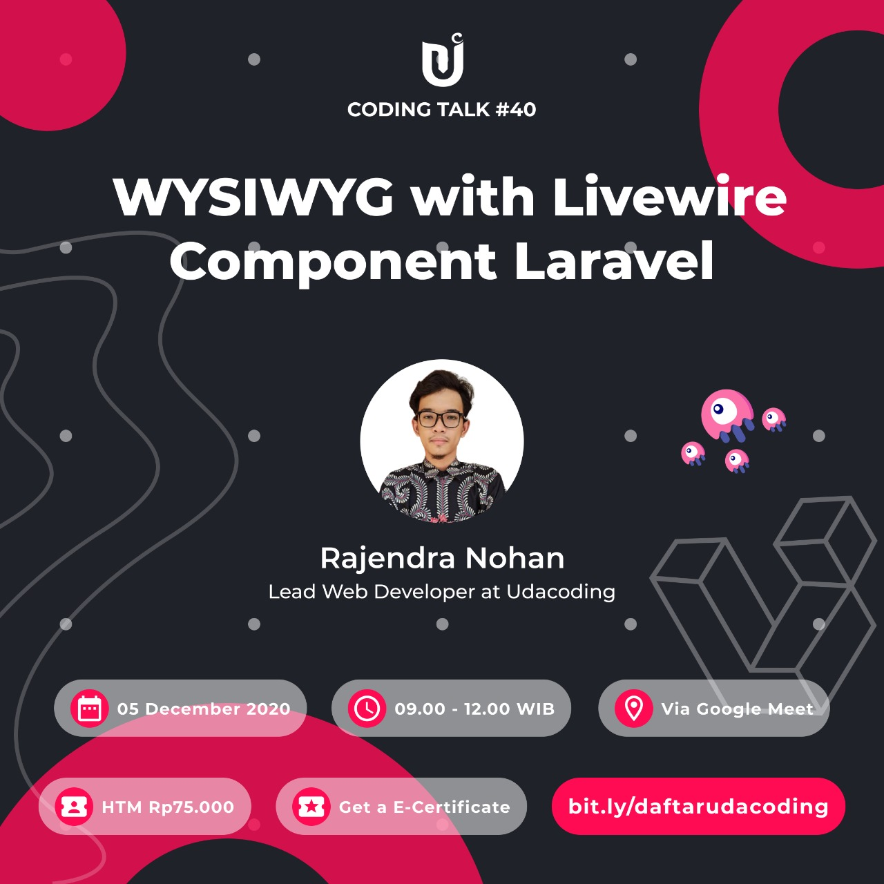 Implement WYSIWYG with Livewire Component Laravel