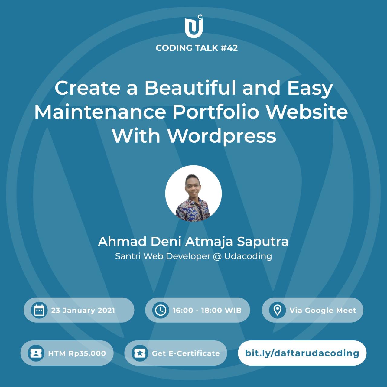 Membuat Website Portofolio dengan Wordpress