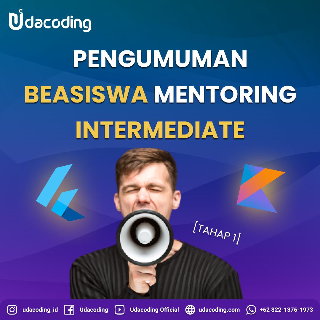 beasiswa mentoring intermediate udacoding