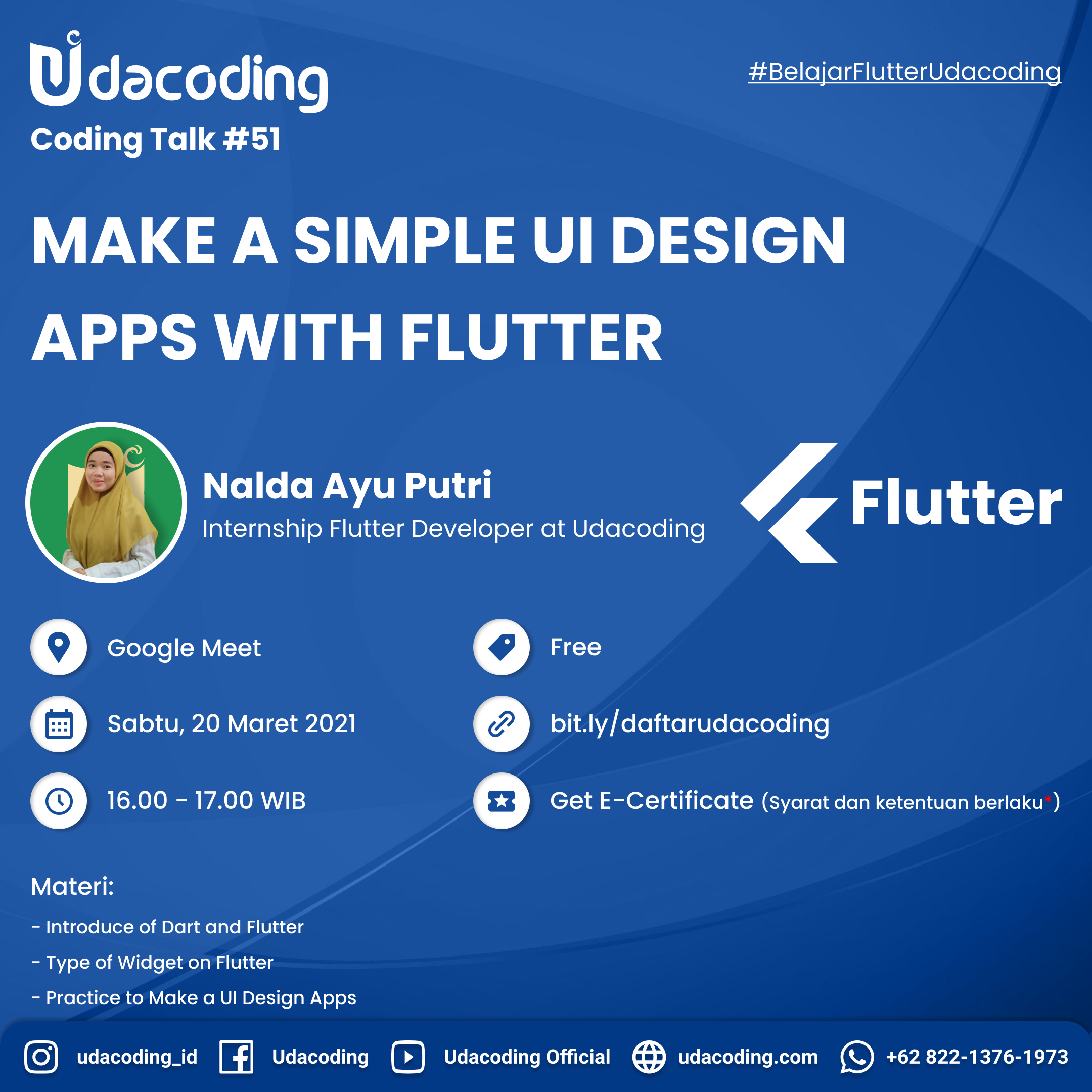 Make a Simple UI Design Apps with Flutter