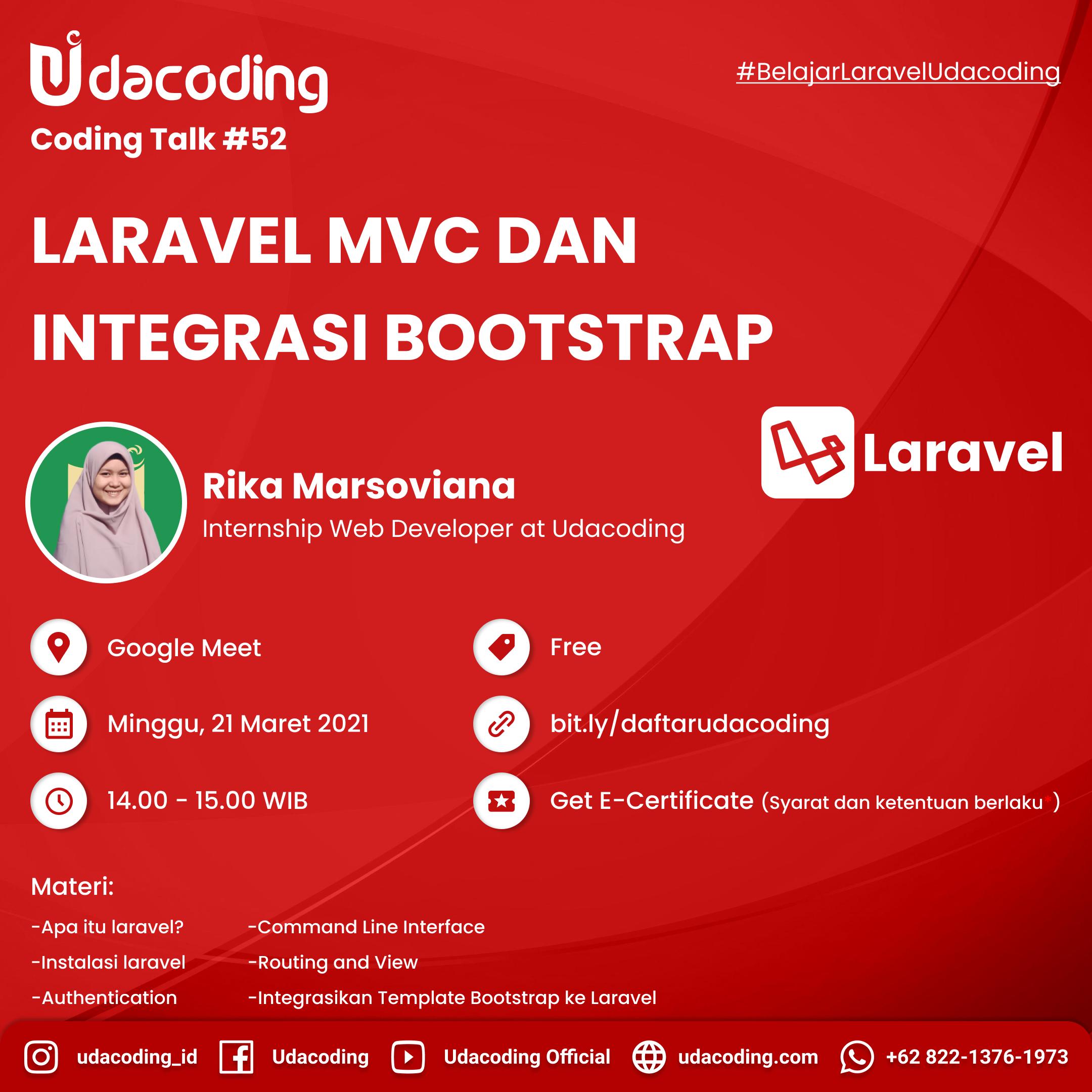 Laravel MVC dan Integrasi Bootstrap