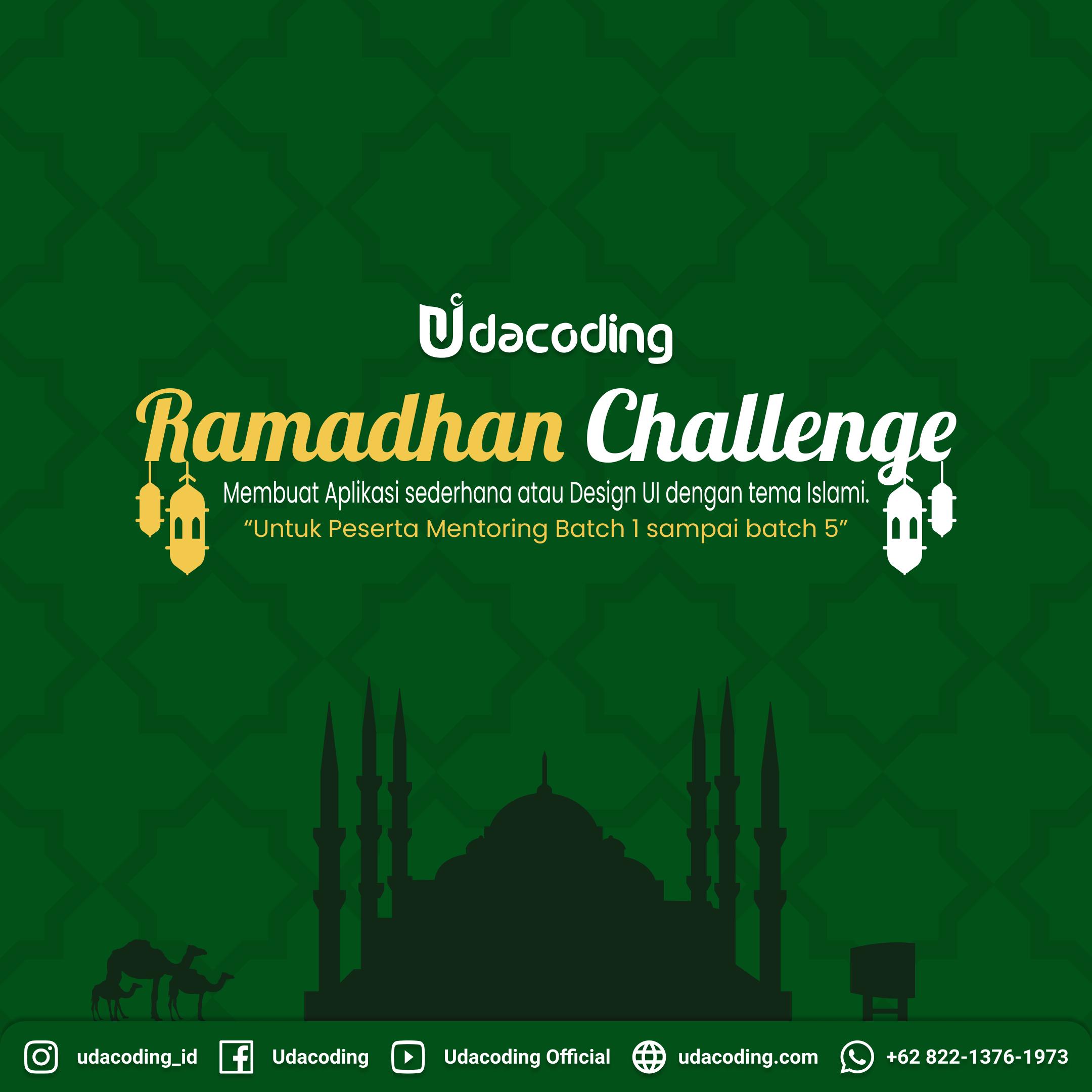 UDACODING RAMADHAN CHALLENGE